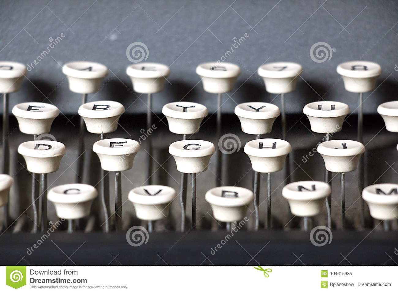 keyboard of a vintage dog tag maker stock image image of military