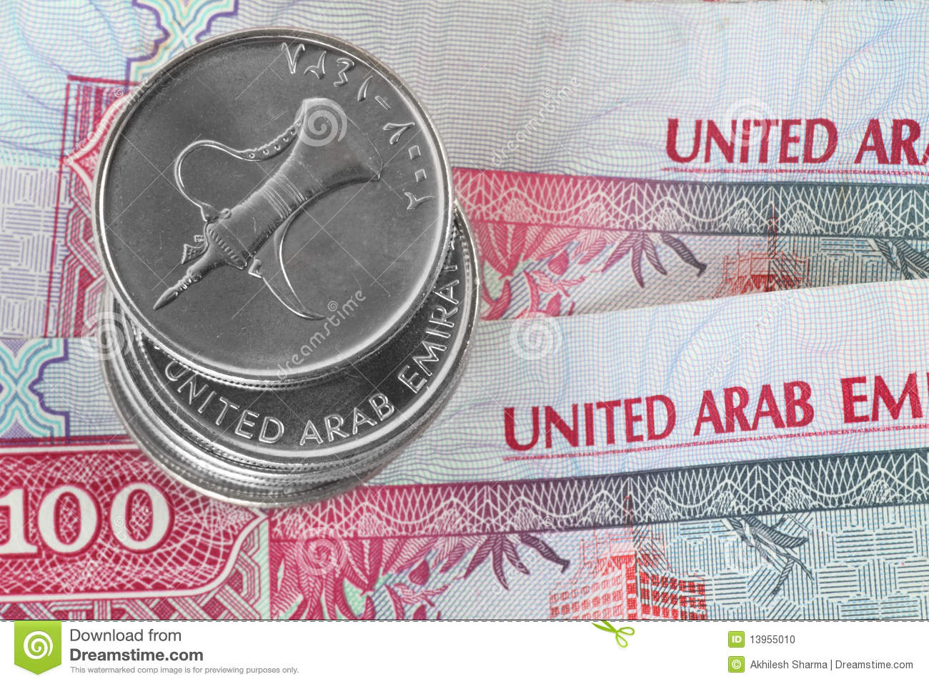 Closeup Of Dirham Coins Stock Photo Image 13955010