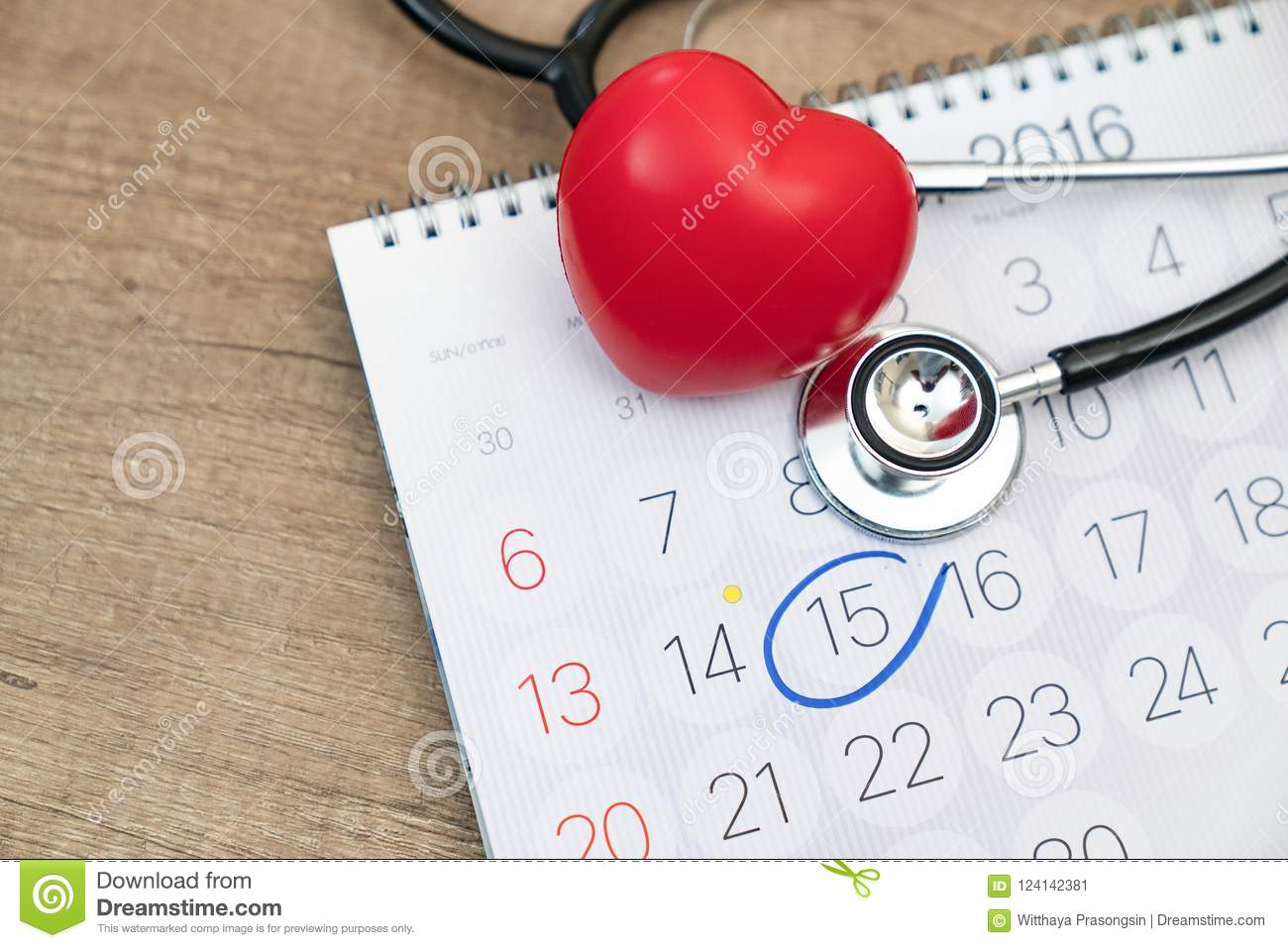 closeup doctor appointment on calendar medical concept stock image