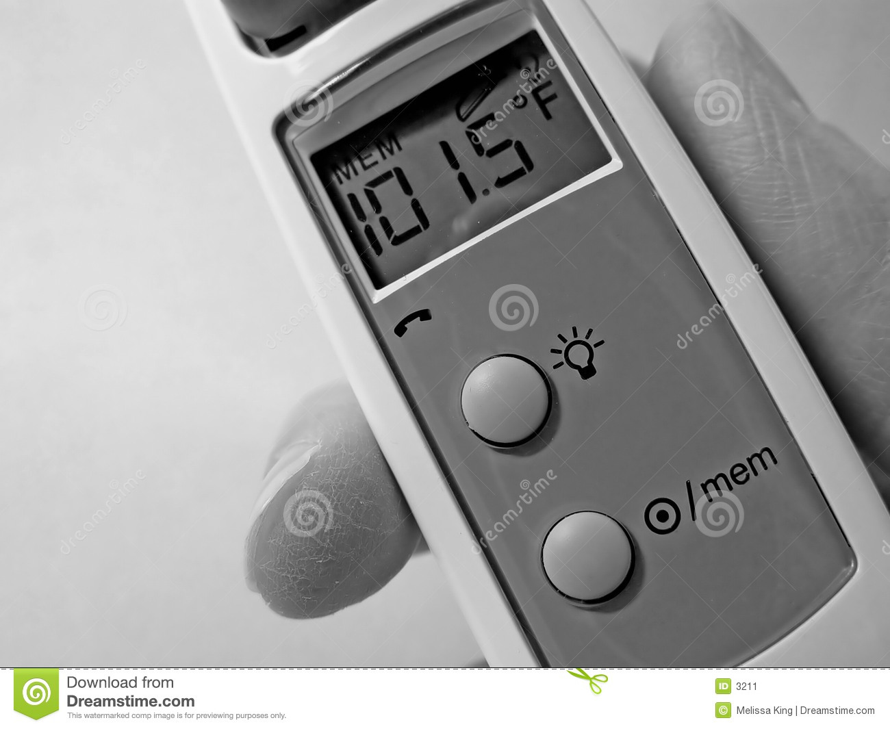 Closeup Ear Thermometer