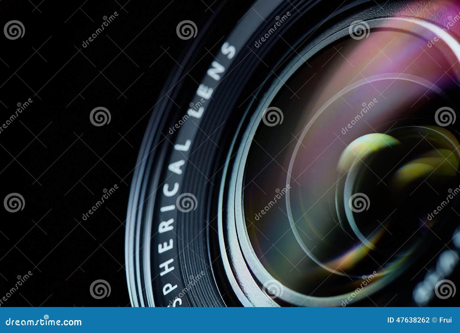 Closeup för fotokameralins