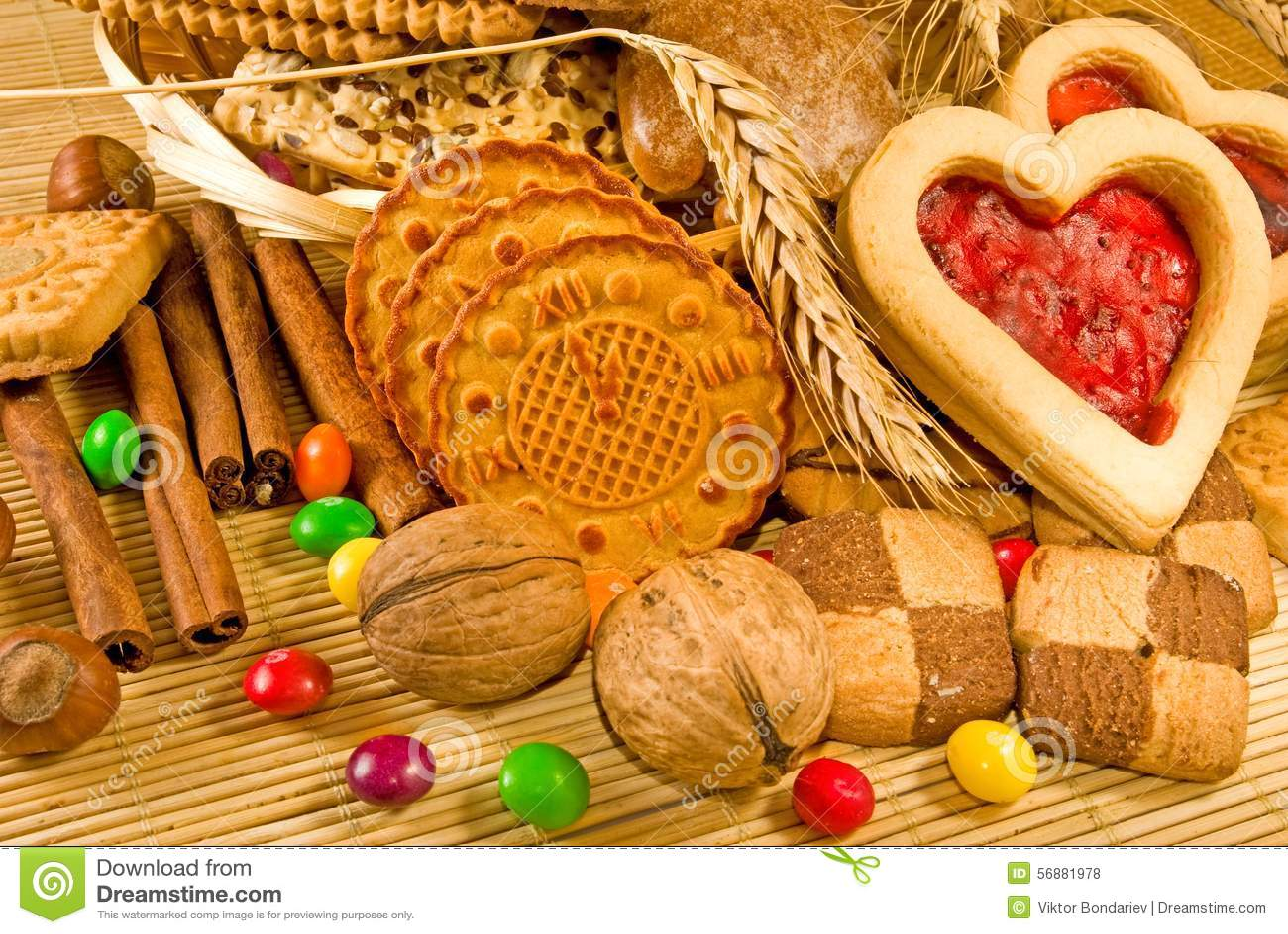 Closeup för många kakor