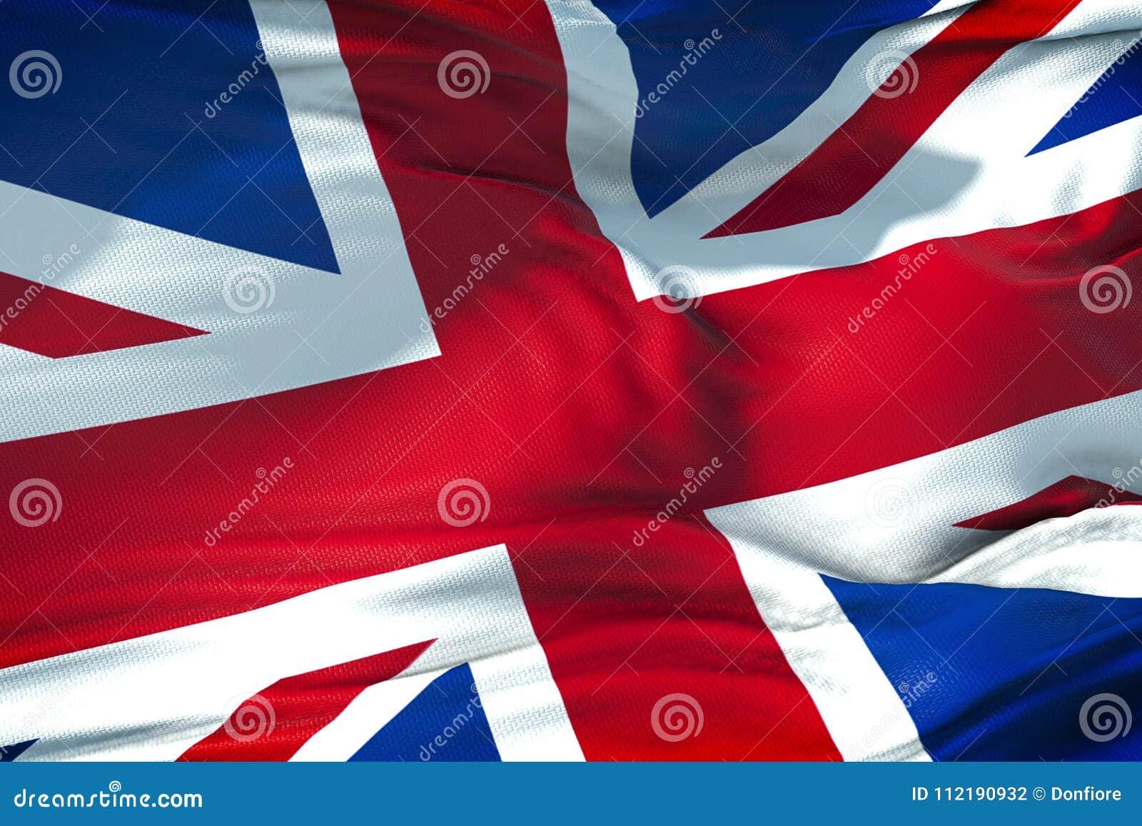 Closeup of flag of Union Jack, uk england, united kingdom flag