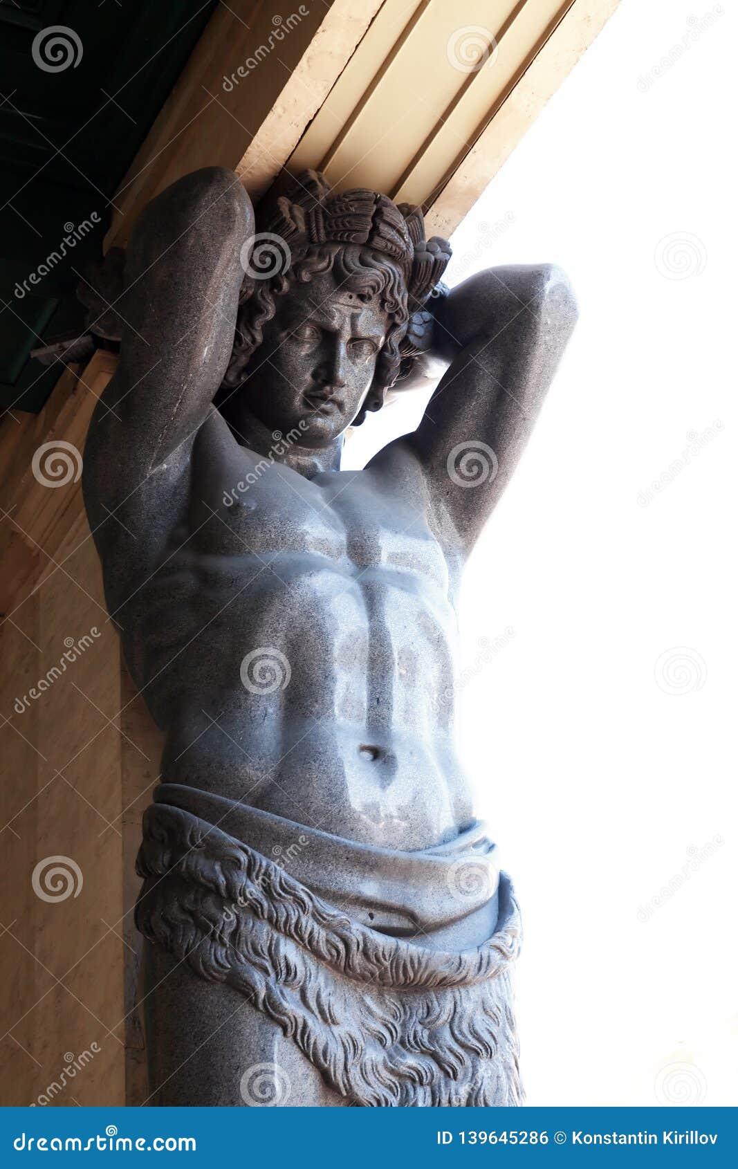 Atlas Sculptures In Hermitage