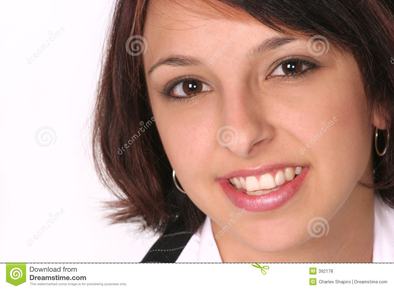 Closeup Of Girl Smiling At You Stock Photo Image Of Facial Sassy 392178