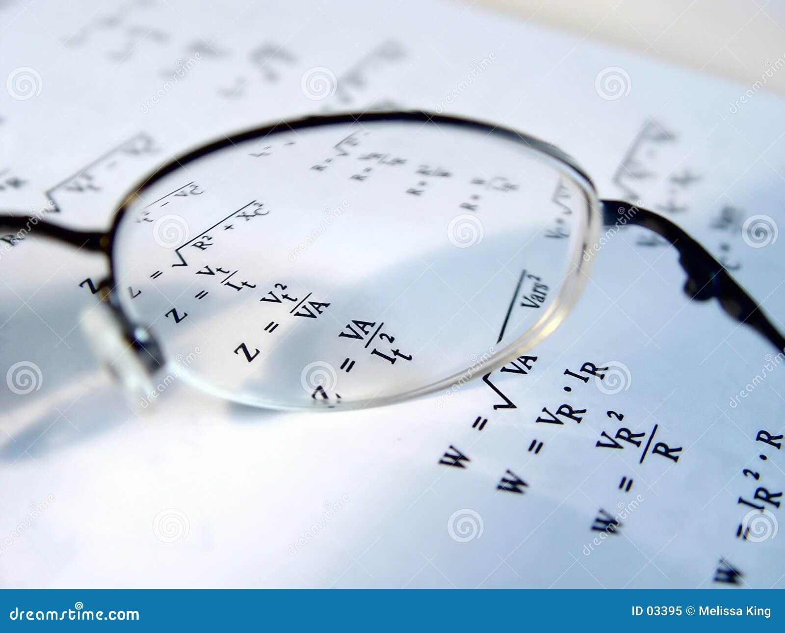 Closeup of Glasses Len