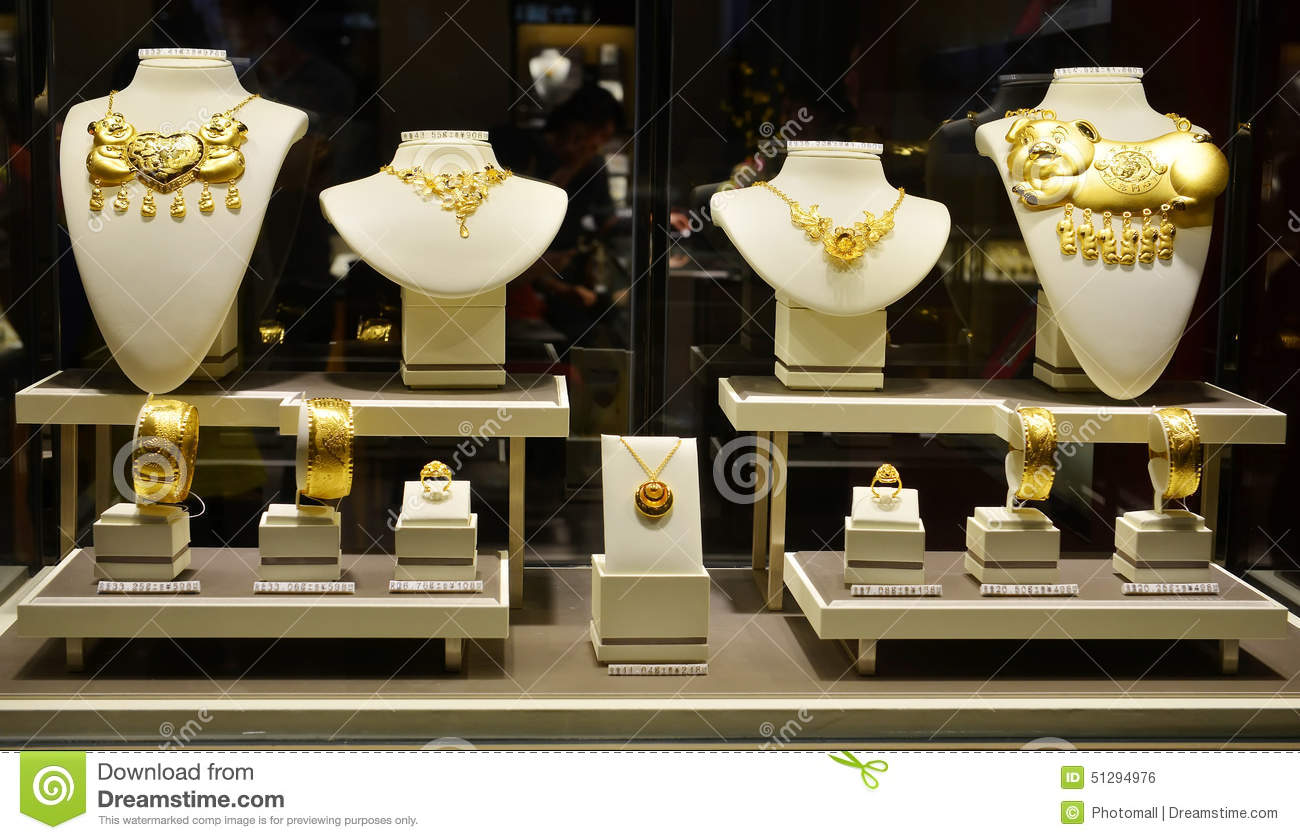 Christmas wedding dress up - Closeup Of Gold Jewelry Shop Window Editorial Photo Image 51294976