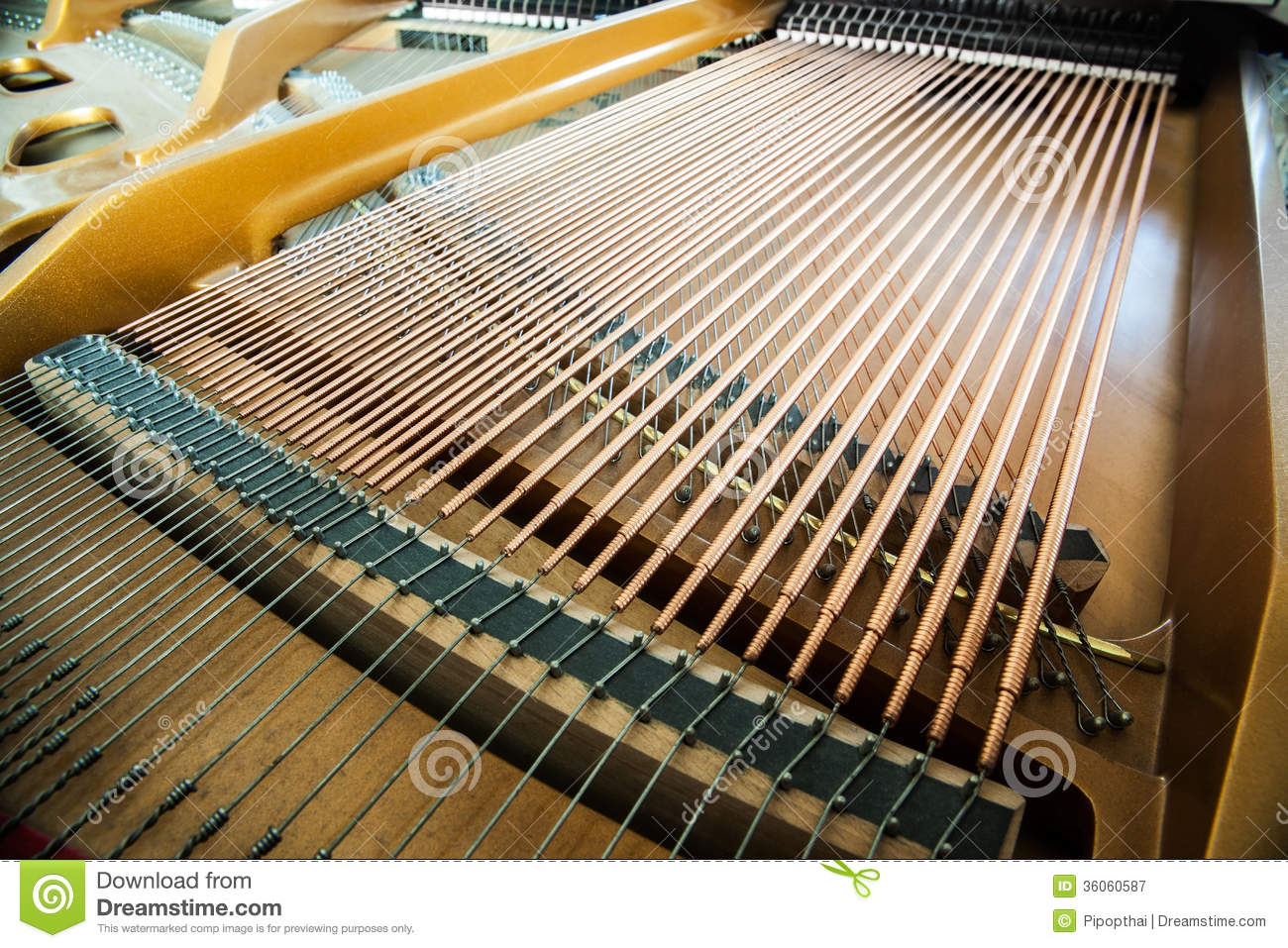 closeup of grand piano showing the strings pegs a stock image image of music instrument. Black Bedroom Furniture Sets. Home Design Ideas