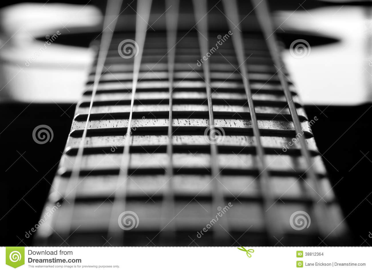 closeup of guitar strings and frets stock photo image 38812364. Black Bedroom Furniture Sets. Home Design Ideas