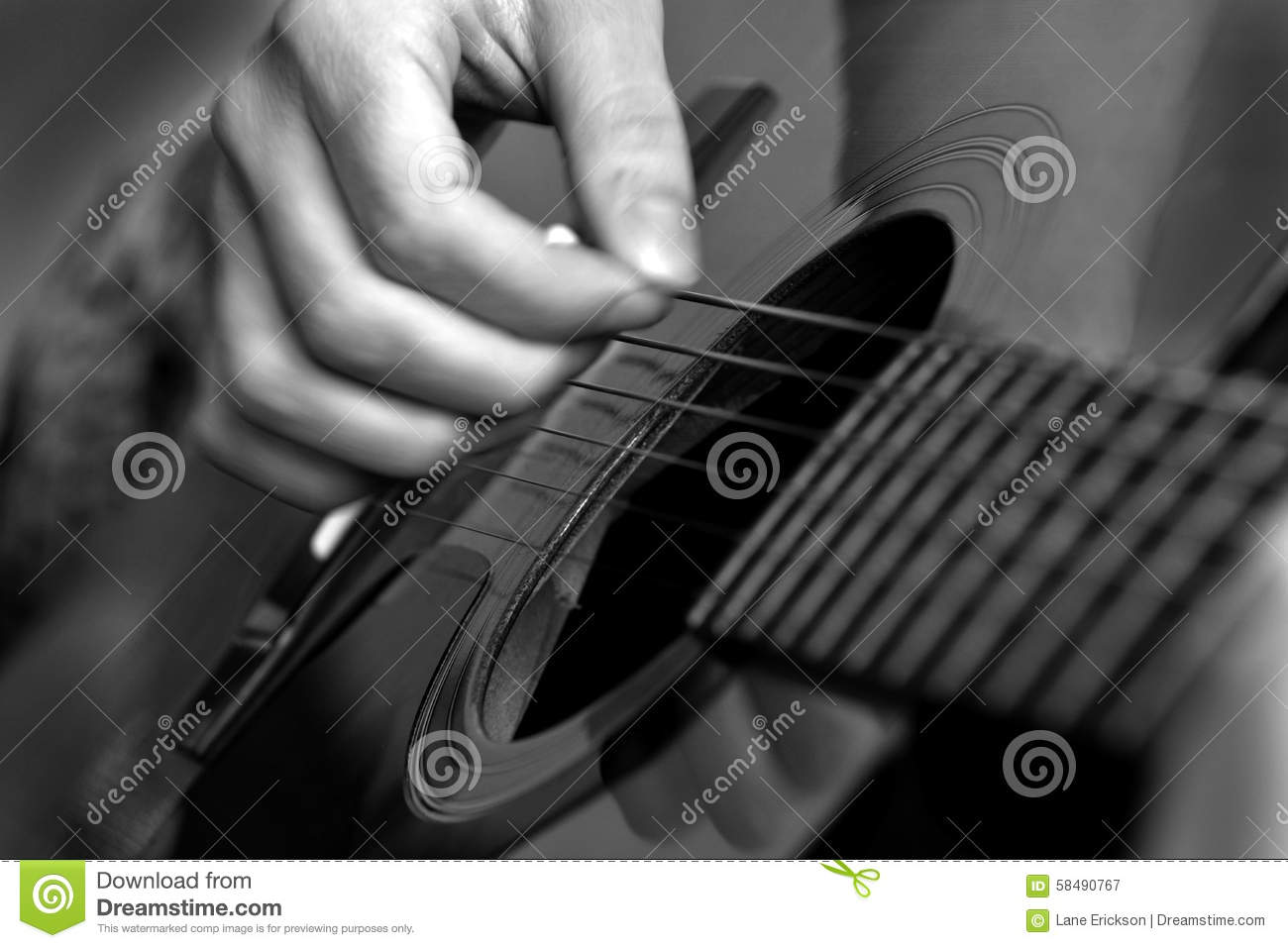 closeup of guitar strings for music stock photo image 58490767. Black Bedroom Furniture Sets. Home Design Ideas