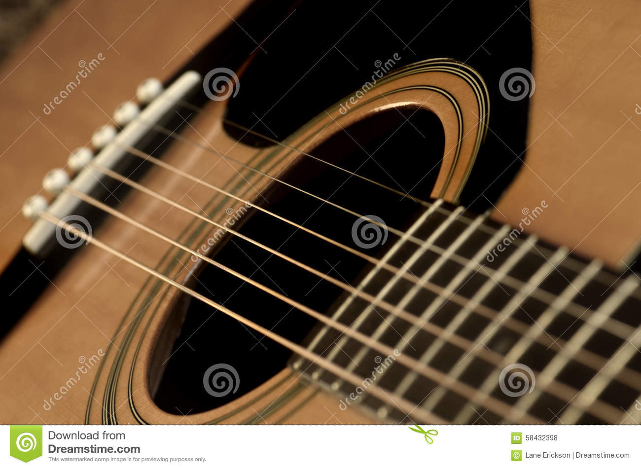 closeup of guitar strings for music stock photo image 58432398. Black Bedroom Furniture Sets. Home Design Ideas