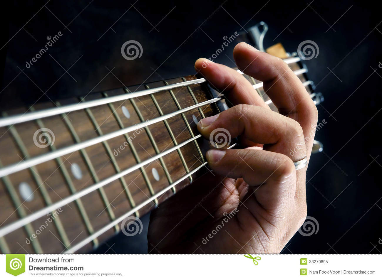 Closeup Of Guitarist Hand Playing Guitar Royalty Free Stock Photo - Image: 33270895