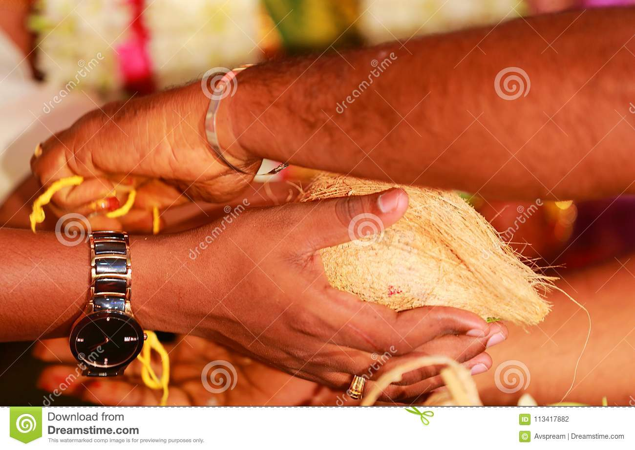 South Indian Wedding Rituals Ceremony Stock Photo Image Of Female