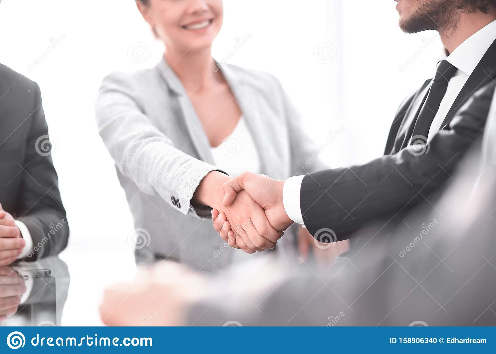 Closeup. the handshake business partners at officce