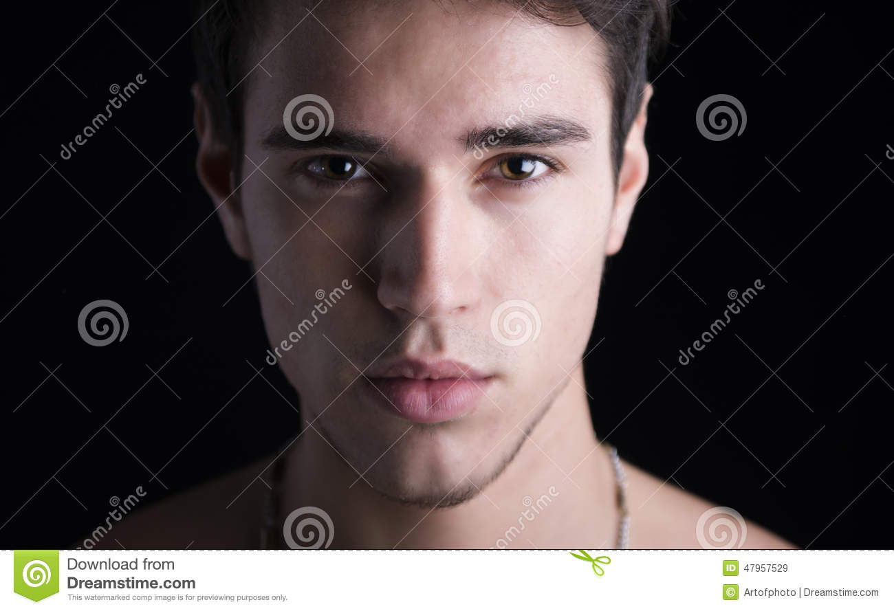 Closeup Headshot Of Handsome Young Man Stock Image Image Of