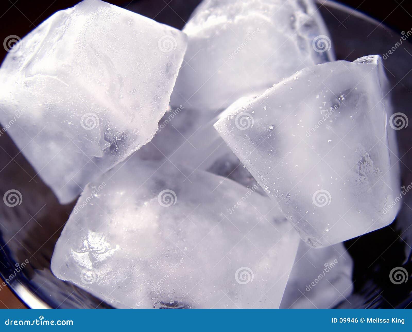 Closeup of Ice Cubes