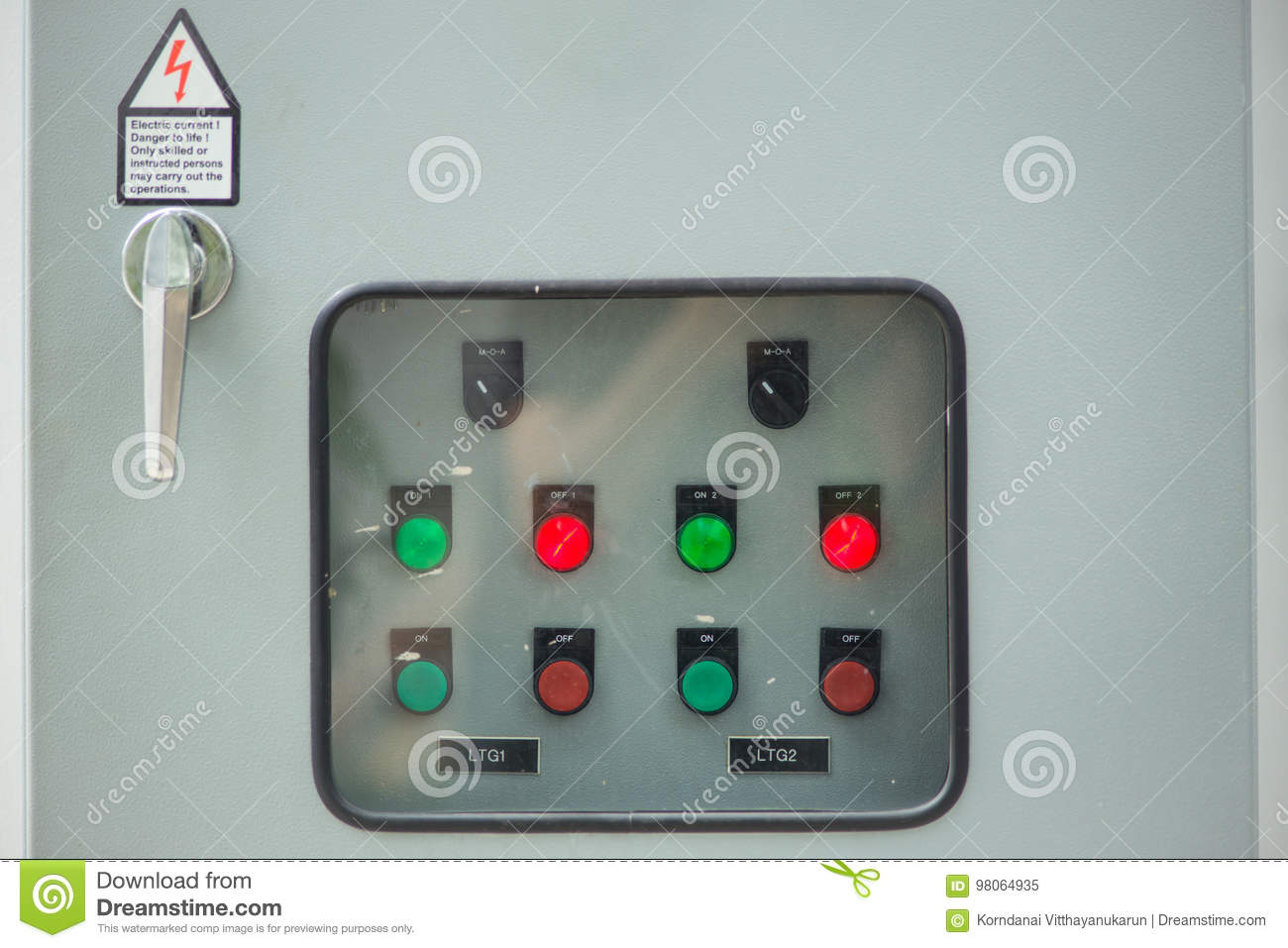 Closeup Industry Main Electricity Switch Stock Image - Image of ...