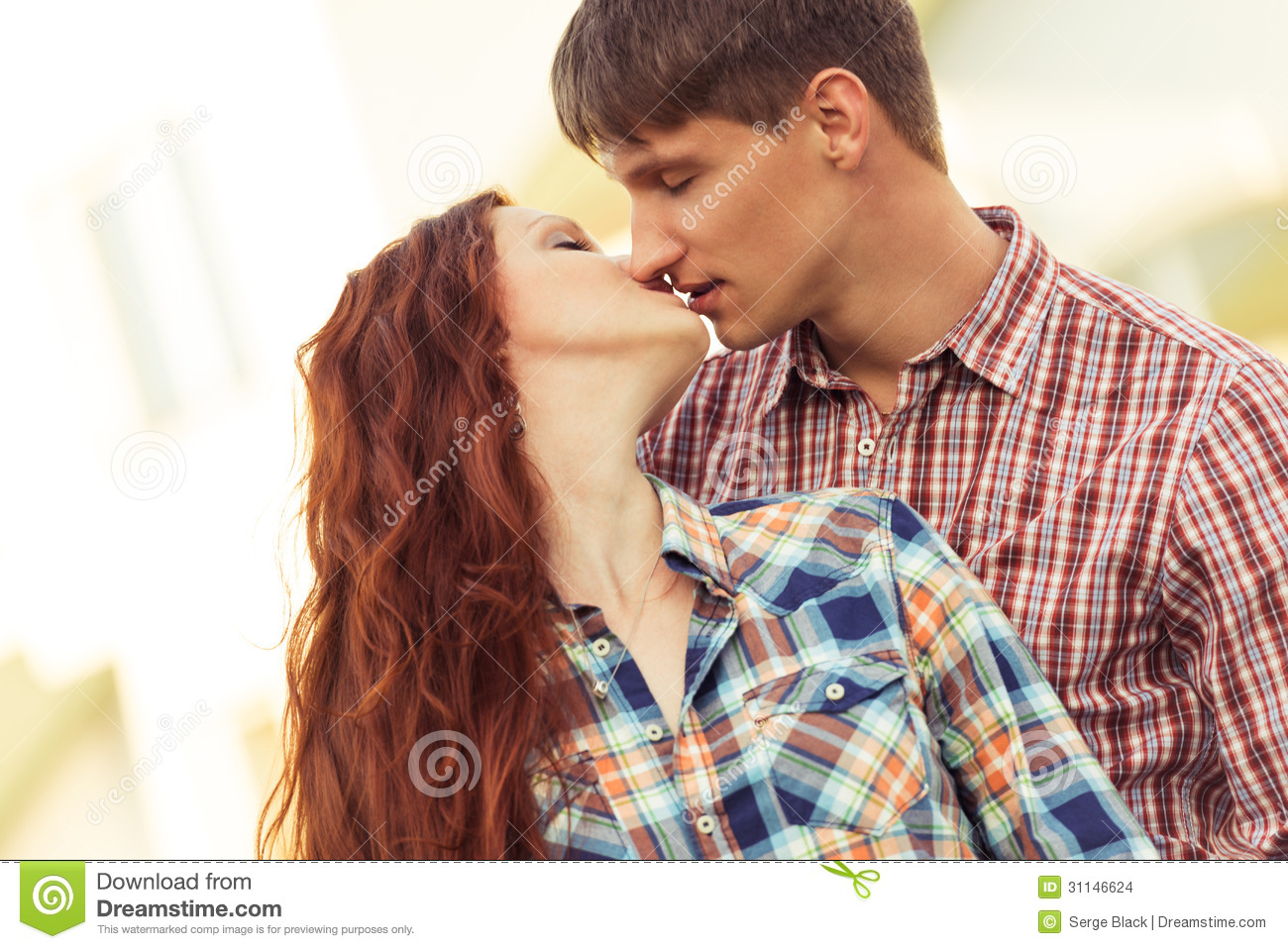 closeup kissing lovely couple stock photo image of cute together