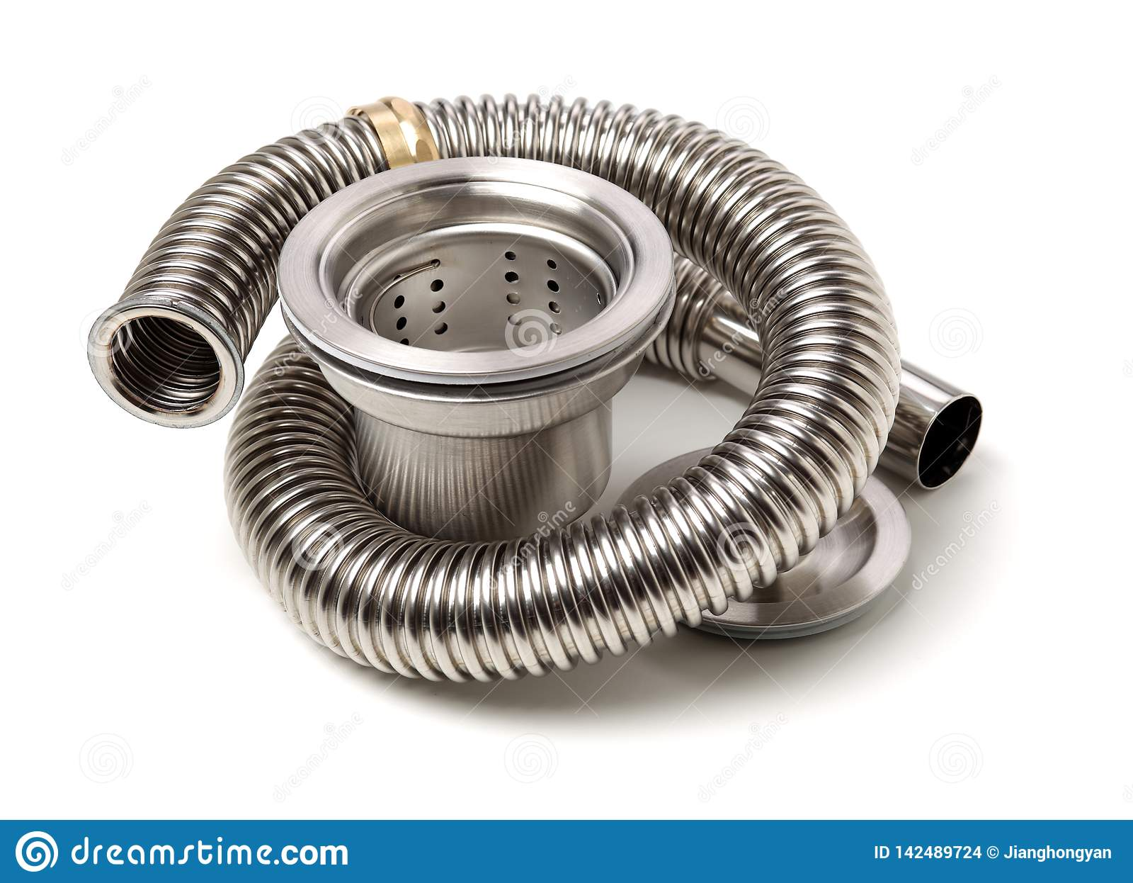 Closeup Of Kitchen Drain Assembly Stock Photo - Image of ...
