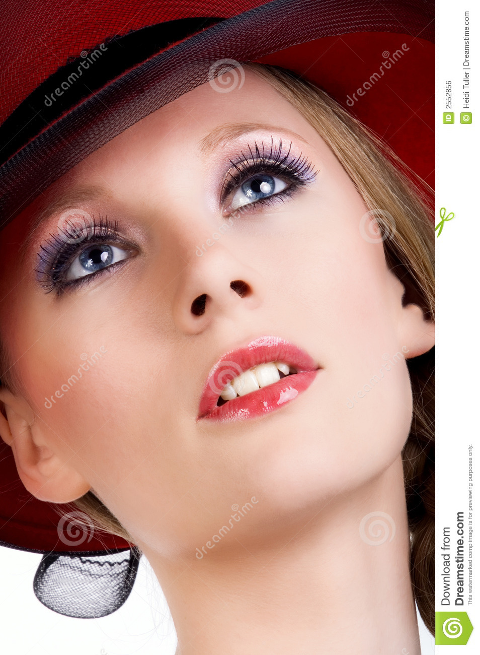 closeup of a lady s face stock photo image of isolated 2552856