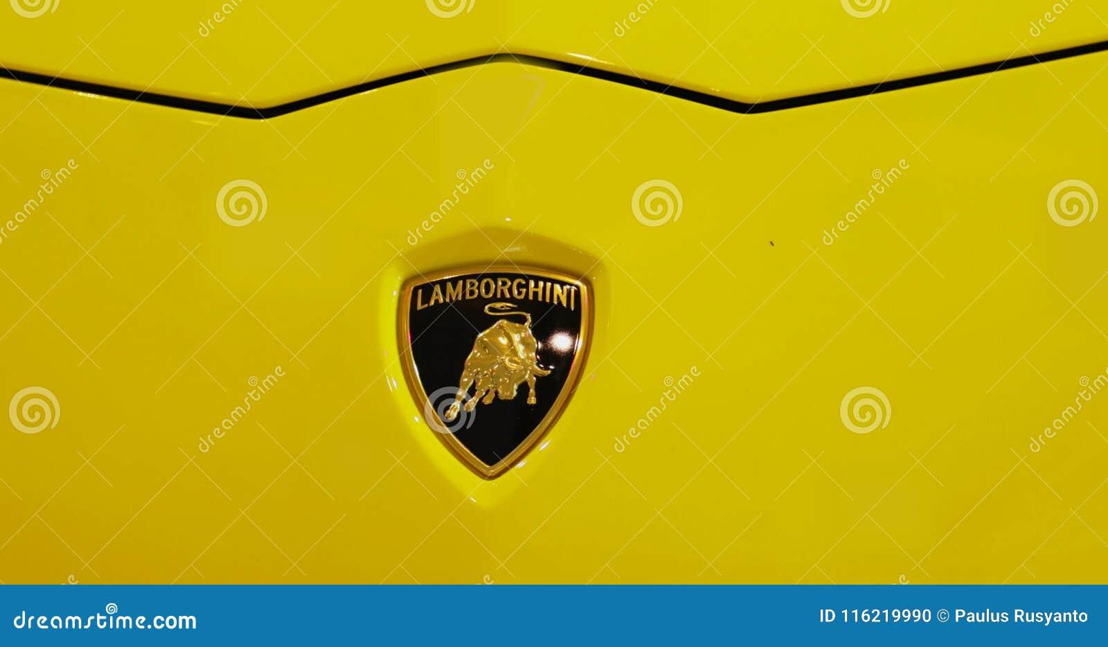 Closeup Of Lamborghini Aventador Car Logo Stock Footage Video Of