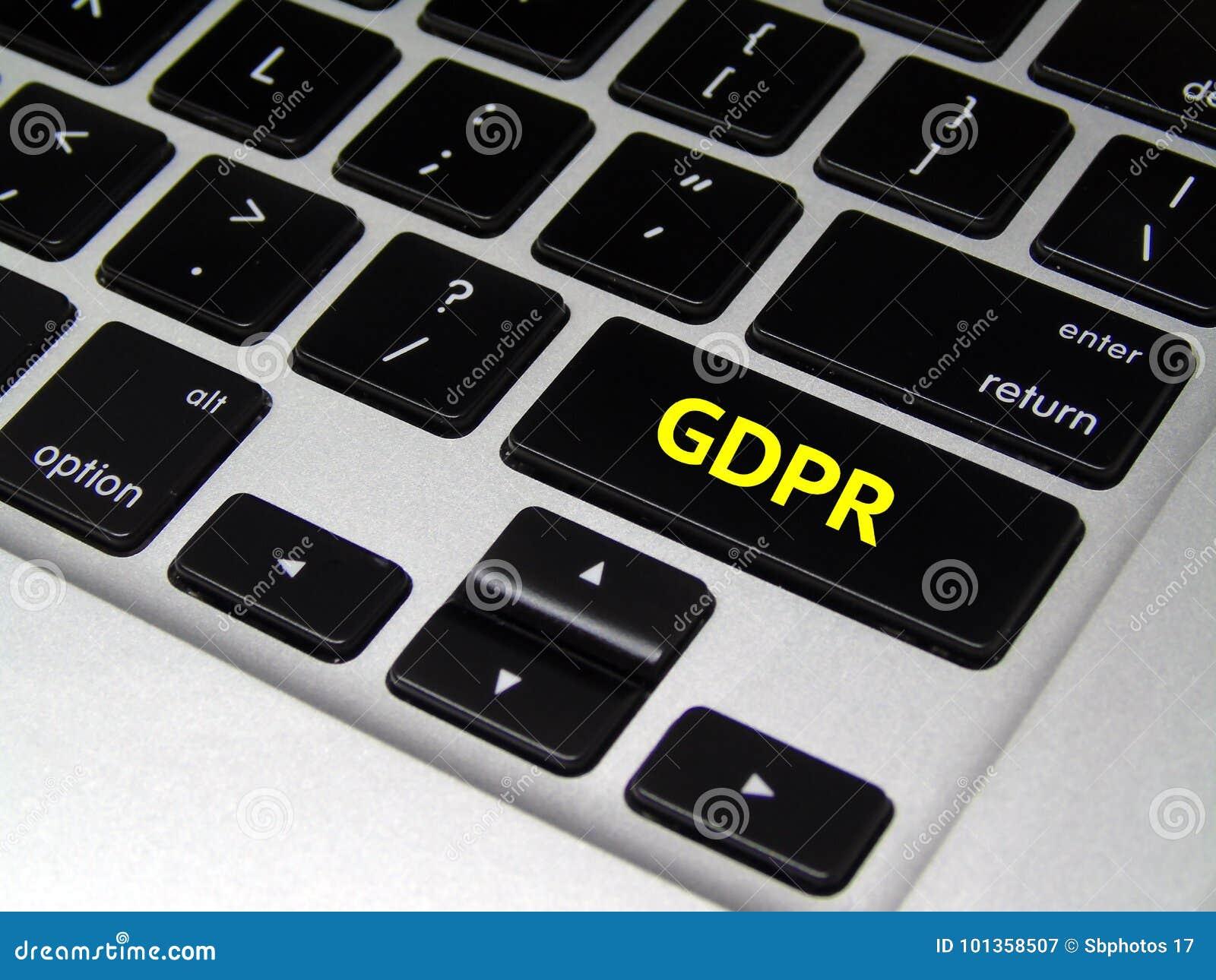 General Data Protection Regulation GDPR - Laptop Button