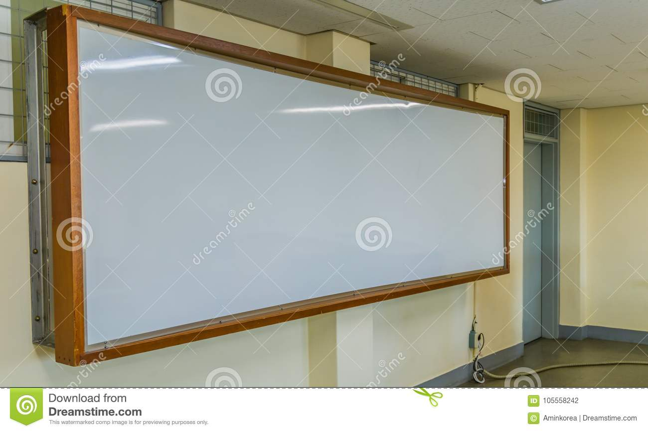 large classroom white board with wooden frame stock photo image of