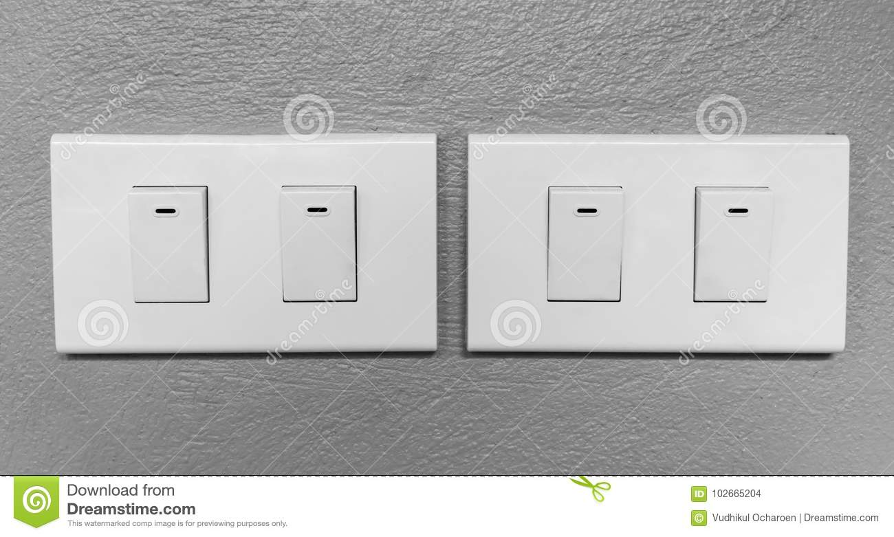 Closeup Of Lighting Electrical Switches Stock Photo - Image of ...