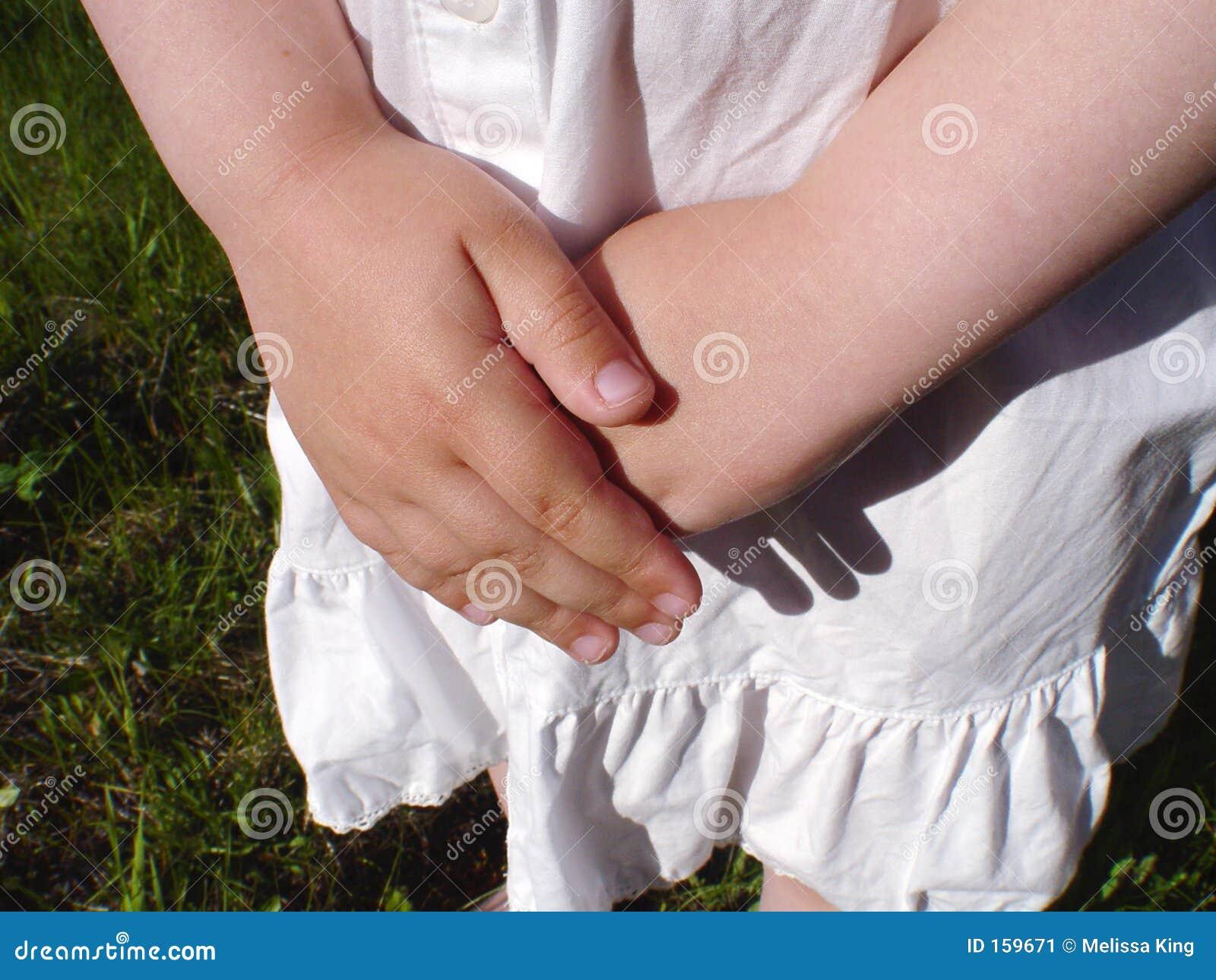 Closeup of Little Girls Hands