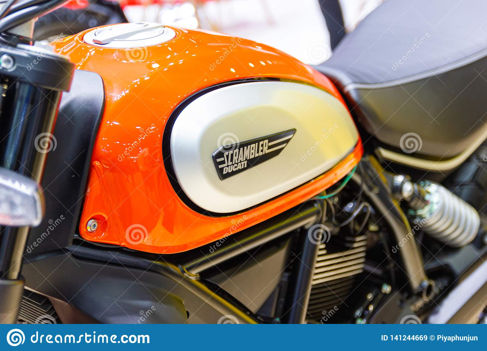 Closeup Logo Ducati Scrambler Motorcycle Ducati Monster At