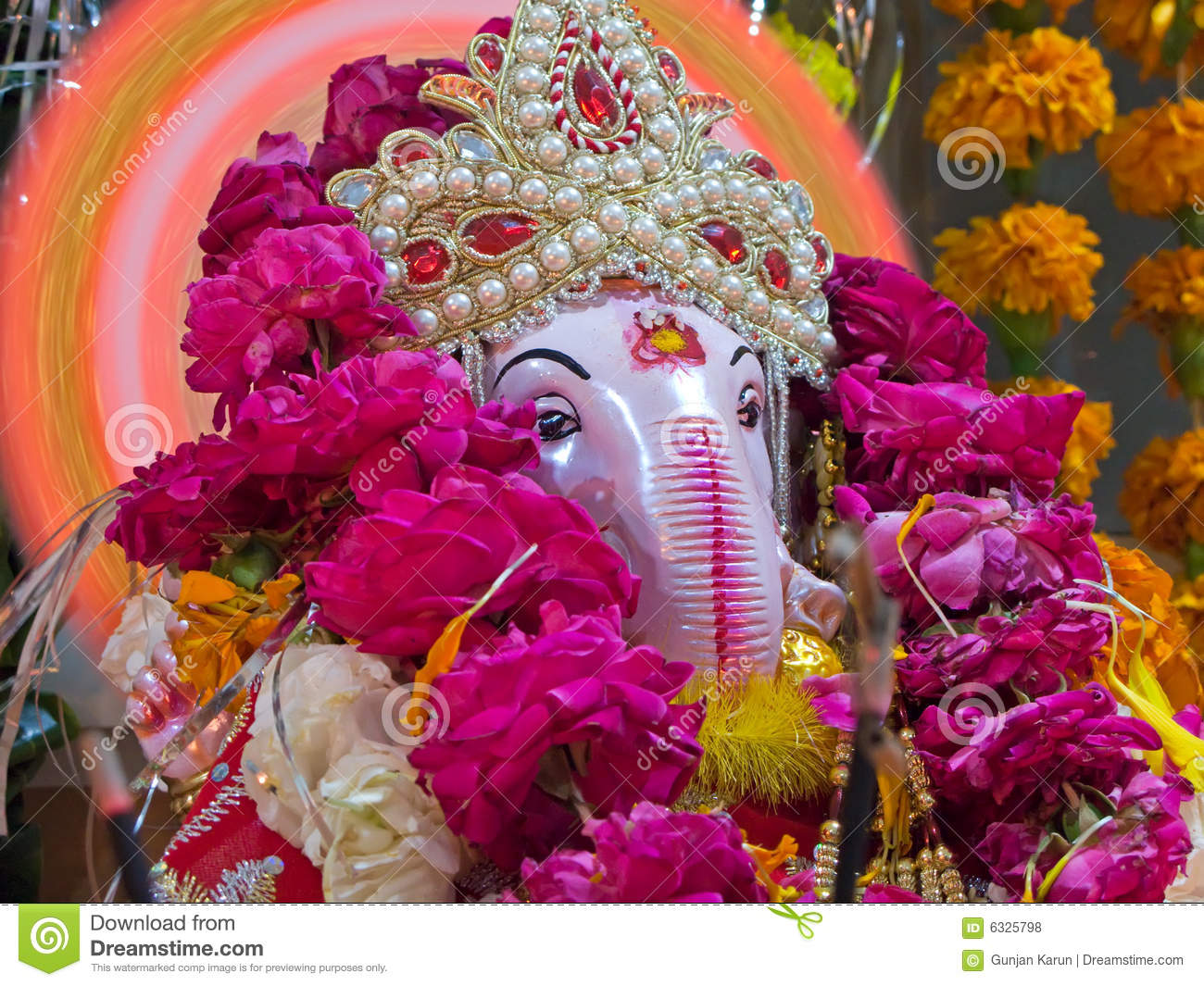 Closeup of lord ganesha a hindu god of good luck royalty - Download god is good all the time ...