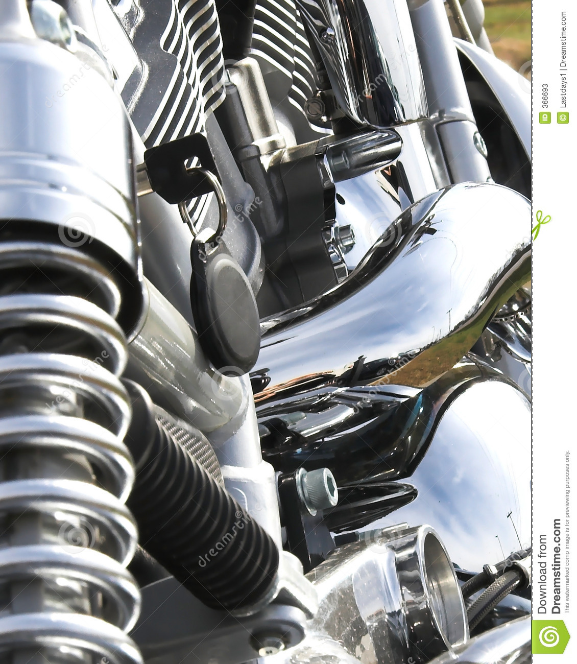 Closeup Motorcycle Chrome Stock Image Image Of Davidson