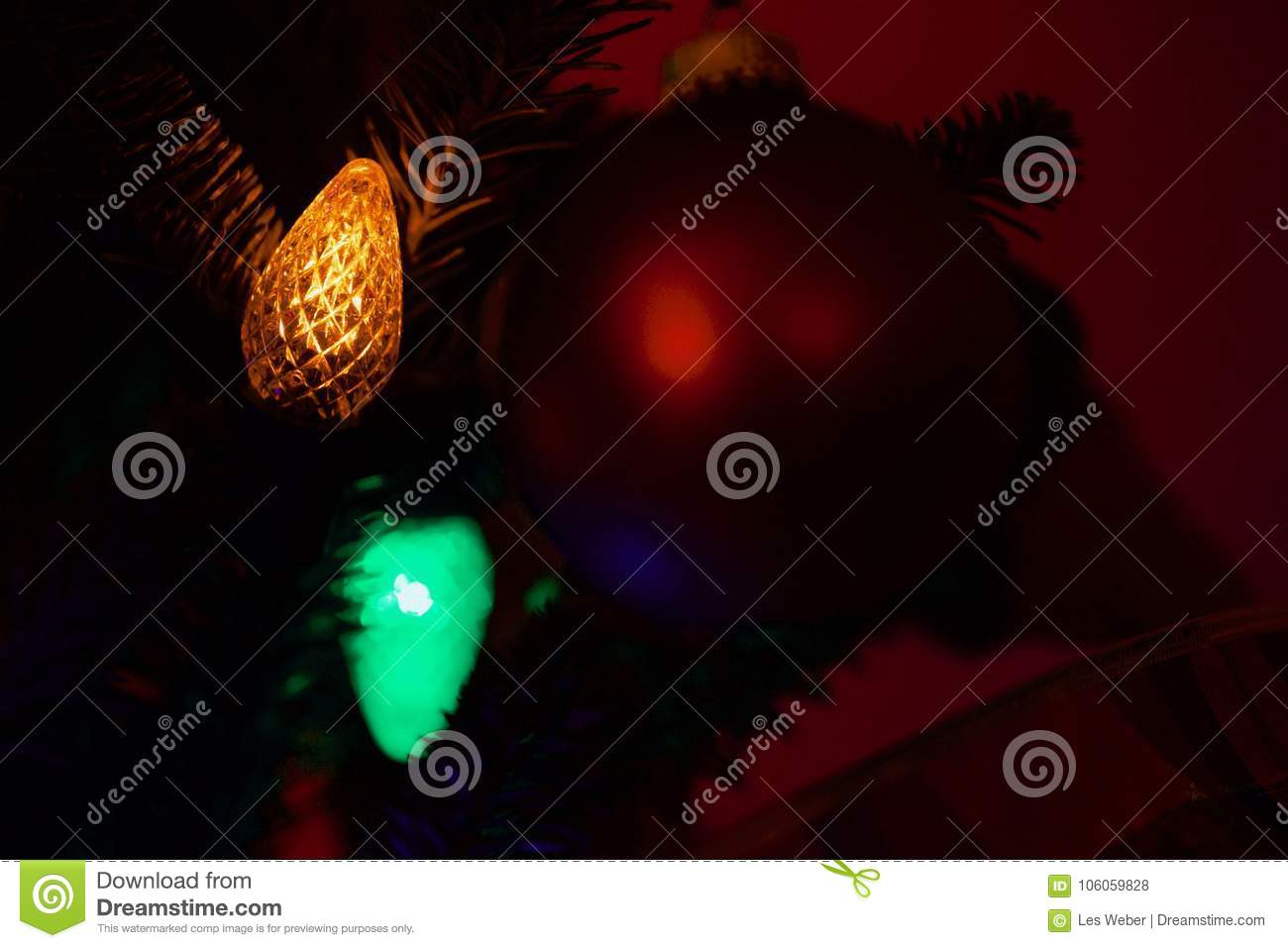 closeup of multicolored christmas lights stock photo image of