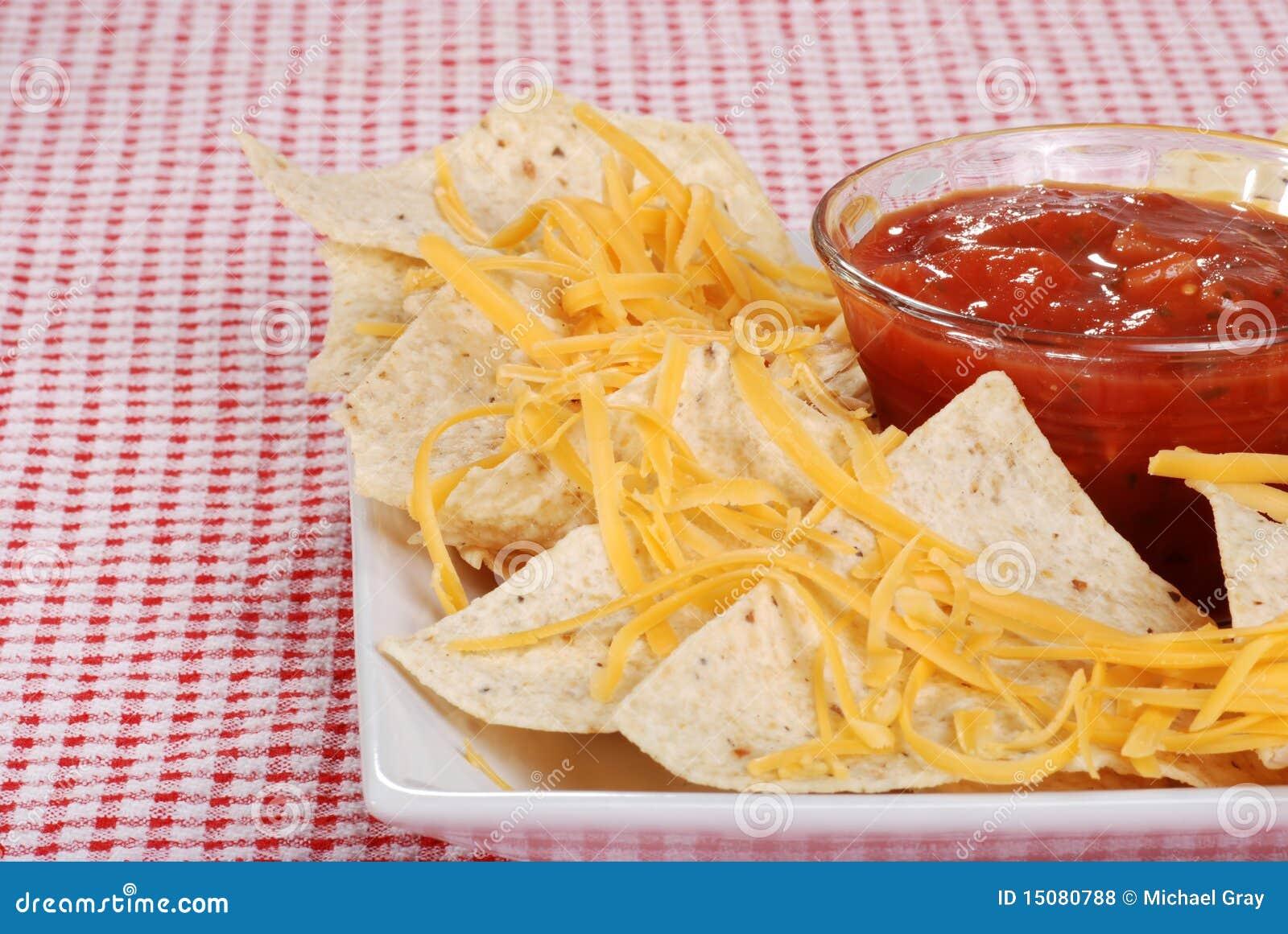 closeup nachos and cheese focus on salsa royalty free Nachos Clip Art Black and White Nachos Clip Art Black and White
