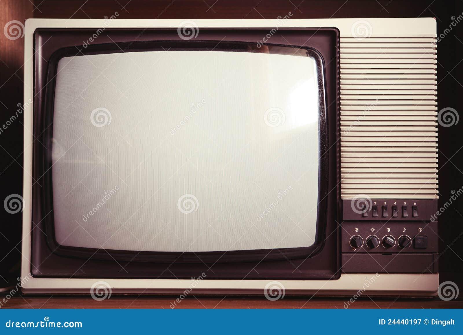 Closeup of old tv set stock image image of dirty retro 24440197 - De rechterhoek tv ...