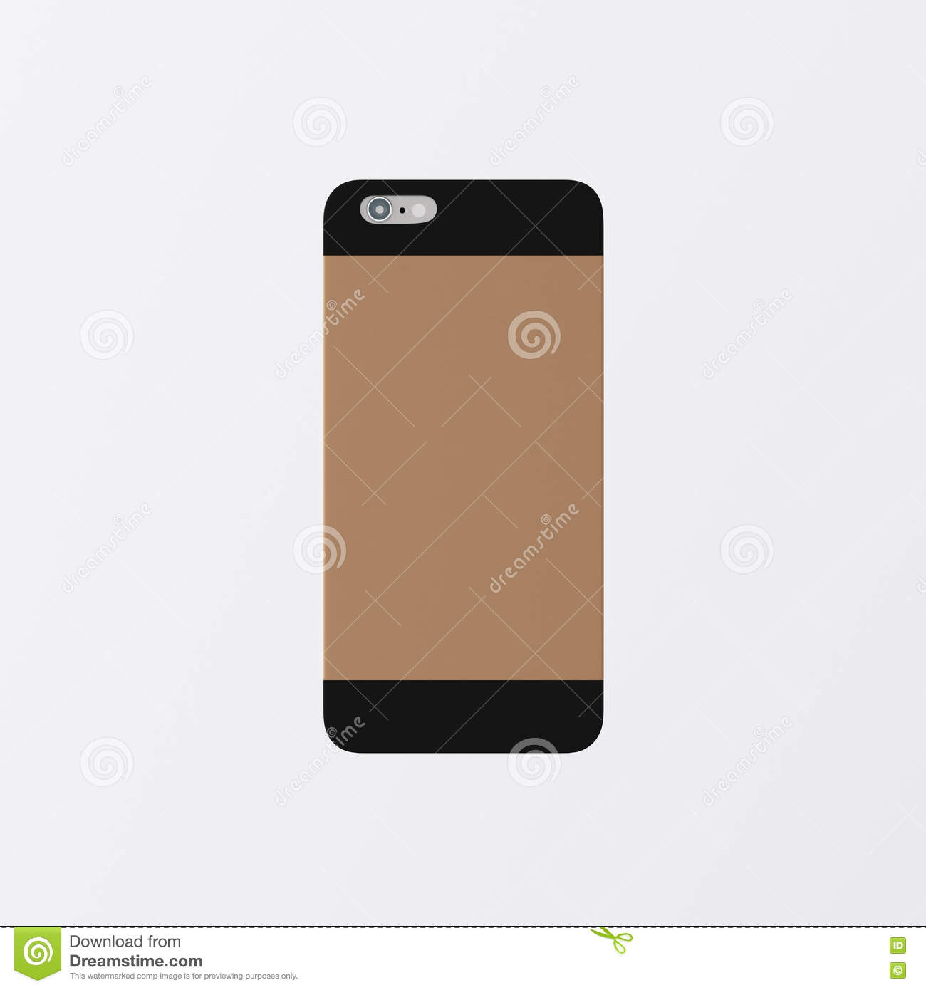 new styles 742df 8dda0 Closeup One Blank Brown Clean Template Cover Phone Case Plastic ...