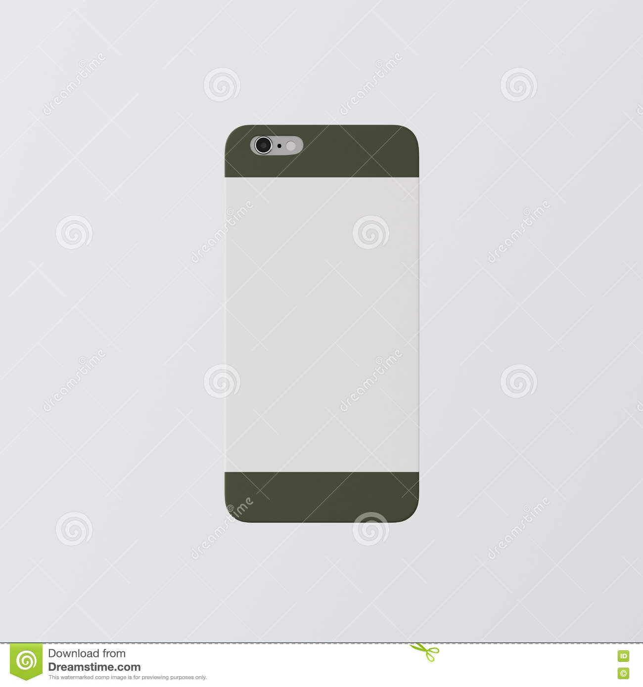 closeup one blank white clean template cover phone case smartphone