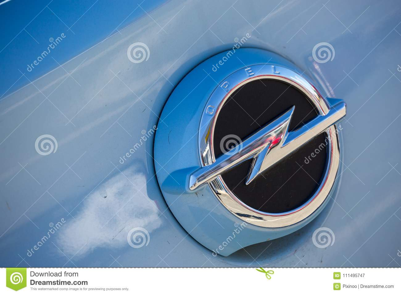 Closeup Of Opel Car Logo Editorial Photography Image Of Icon