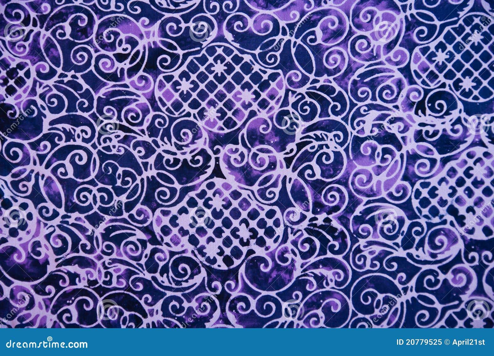 Closeup Pattern Texture Of Thai Batic Fabric Royalty Free Stock Photo