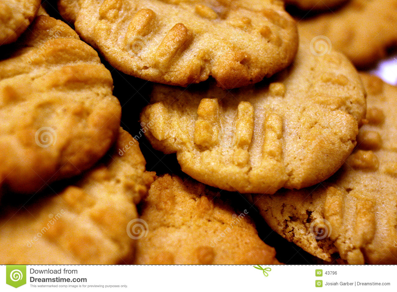 Closeup of Peanut Butter Cookies