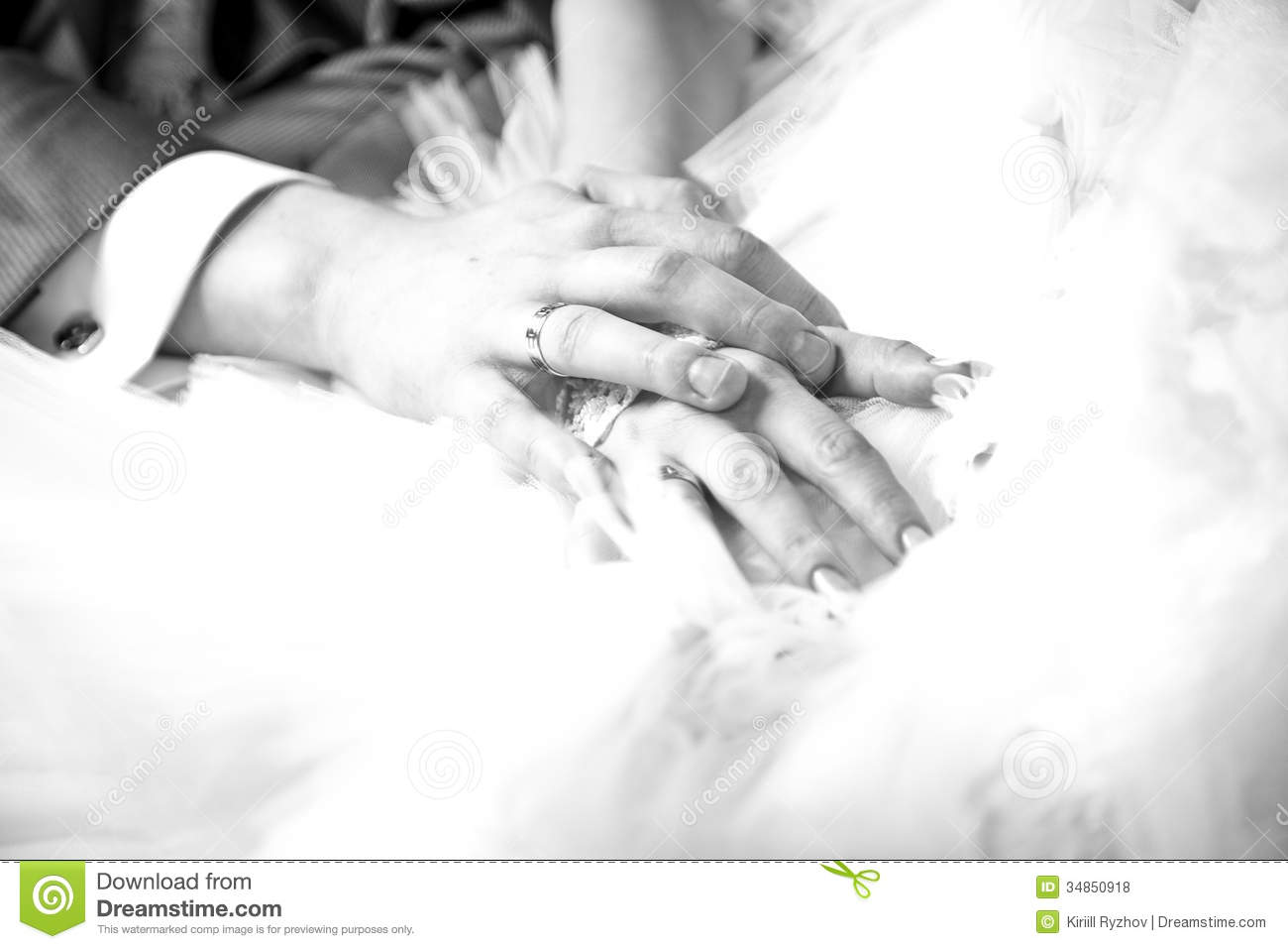 Closeup Photo Of Newly Married Couple Holding Hands ...