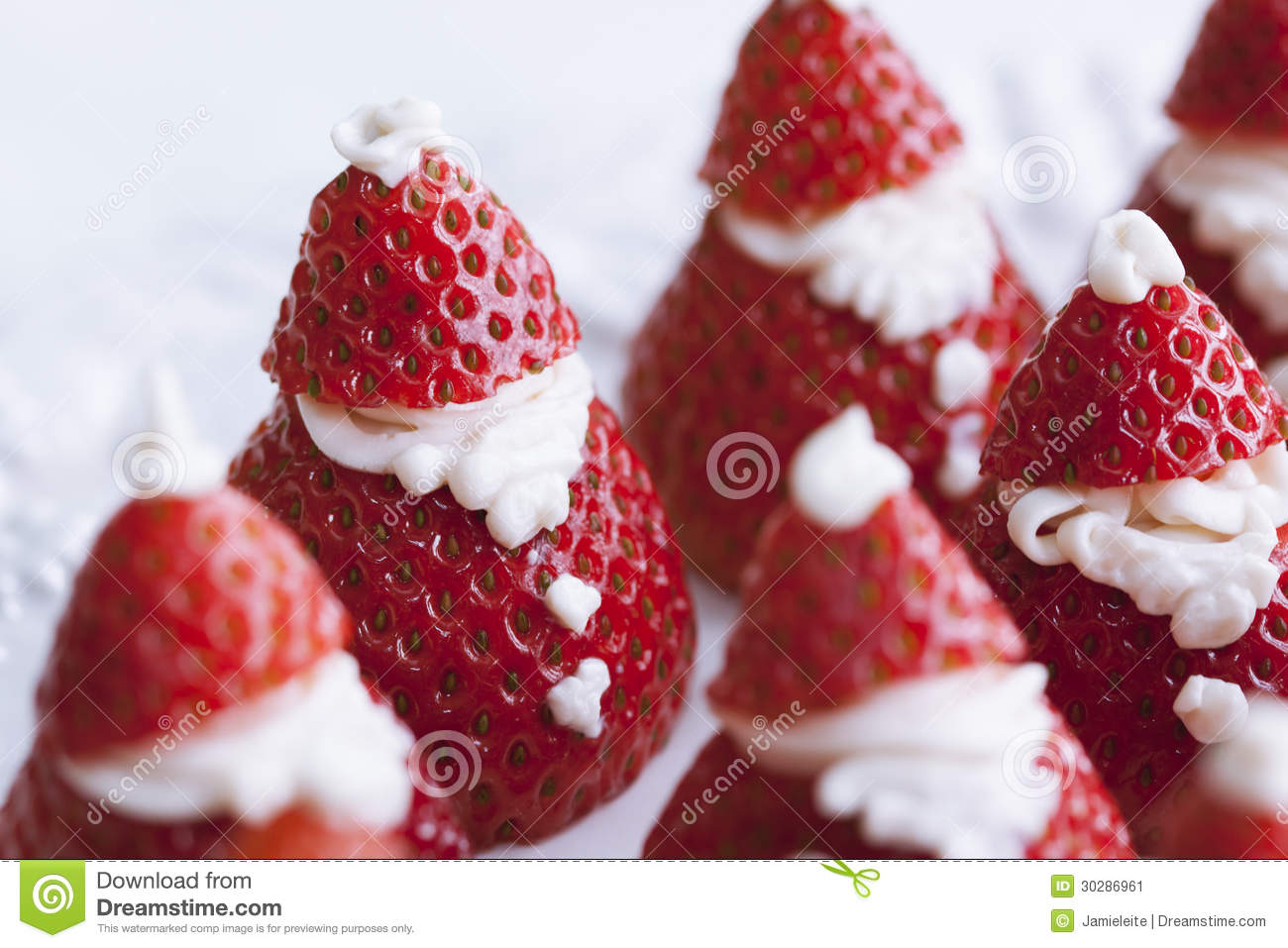 Santa Claus Strawberries Stock Image Image 30286961