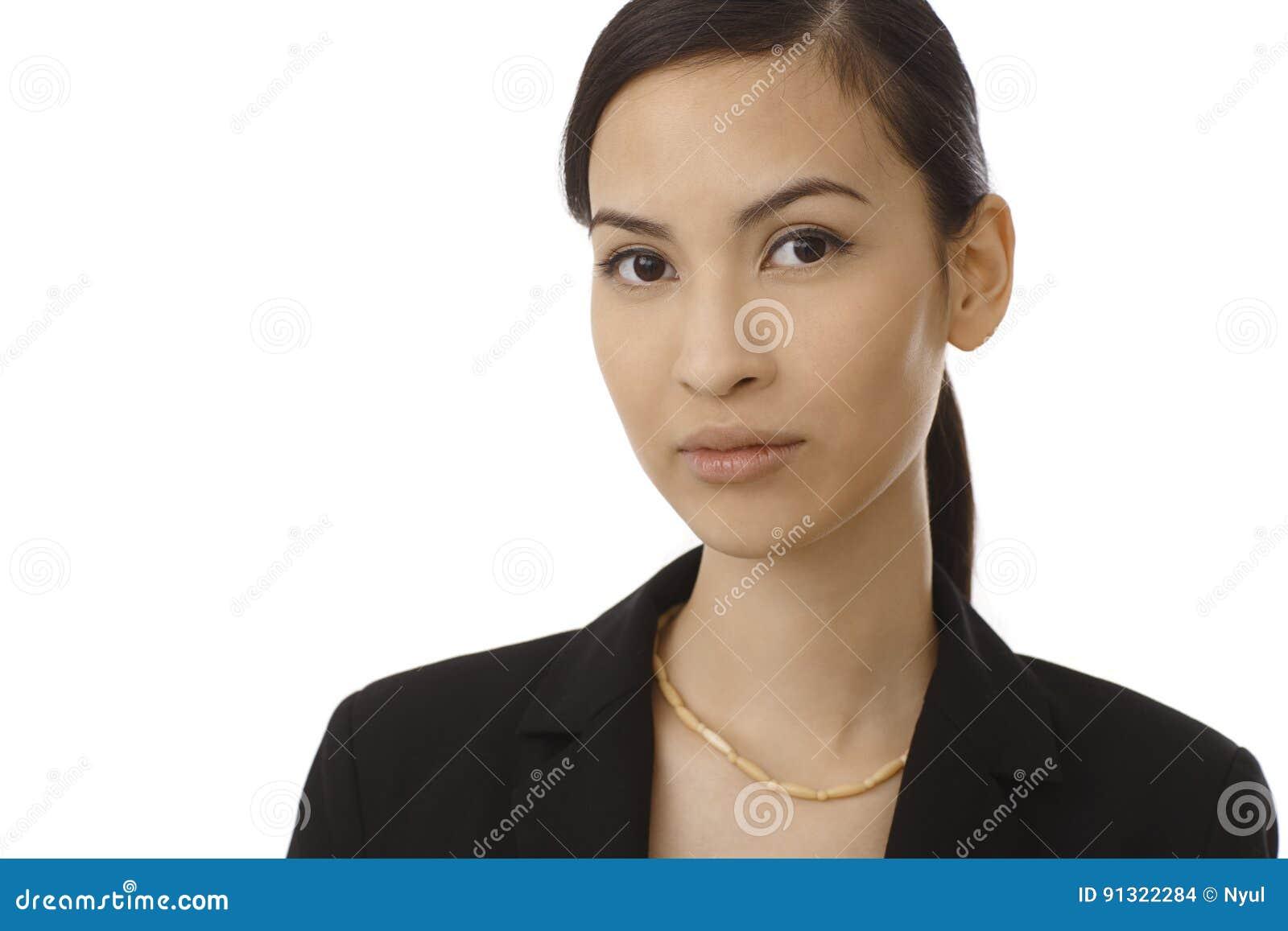 Closeup portrait of beautiful Asian woman