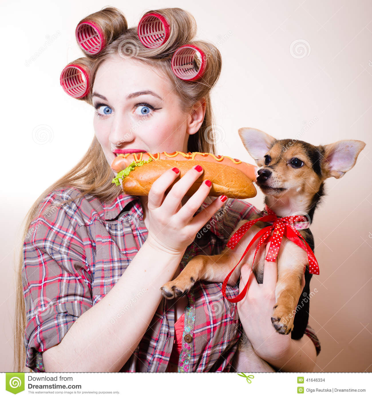 Hot Dog Hair Curlers