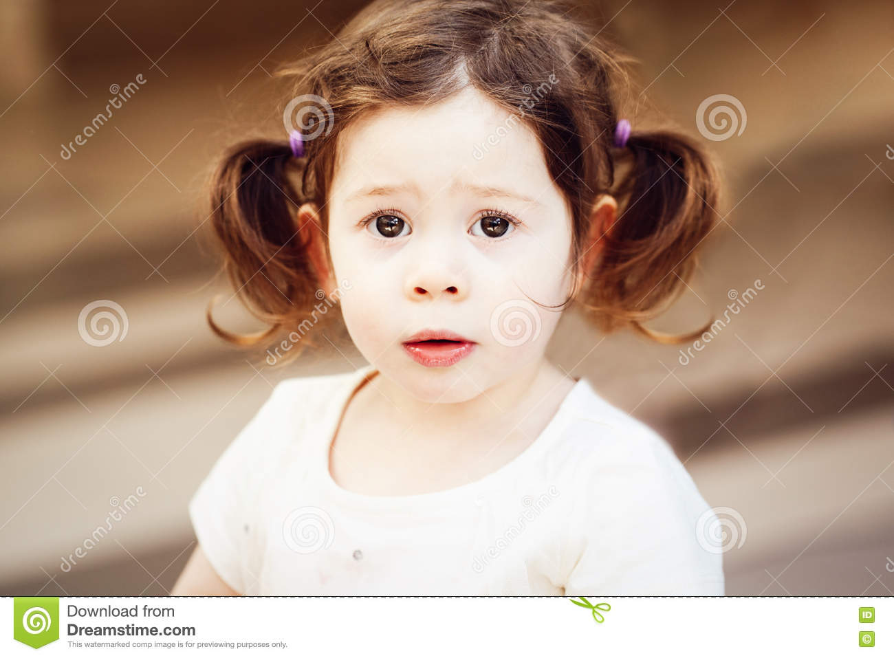 Closeup Portrait Of Cute Adorable Sad Upset White ...