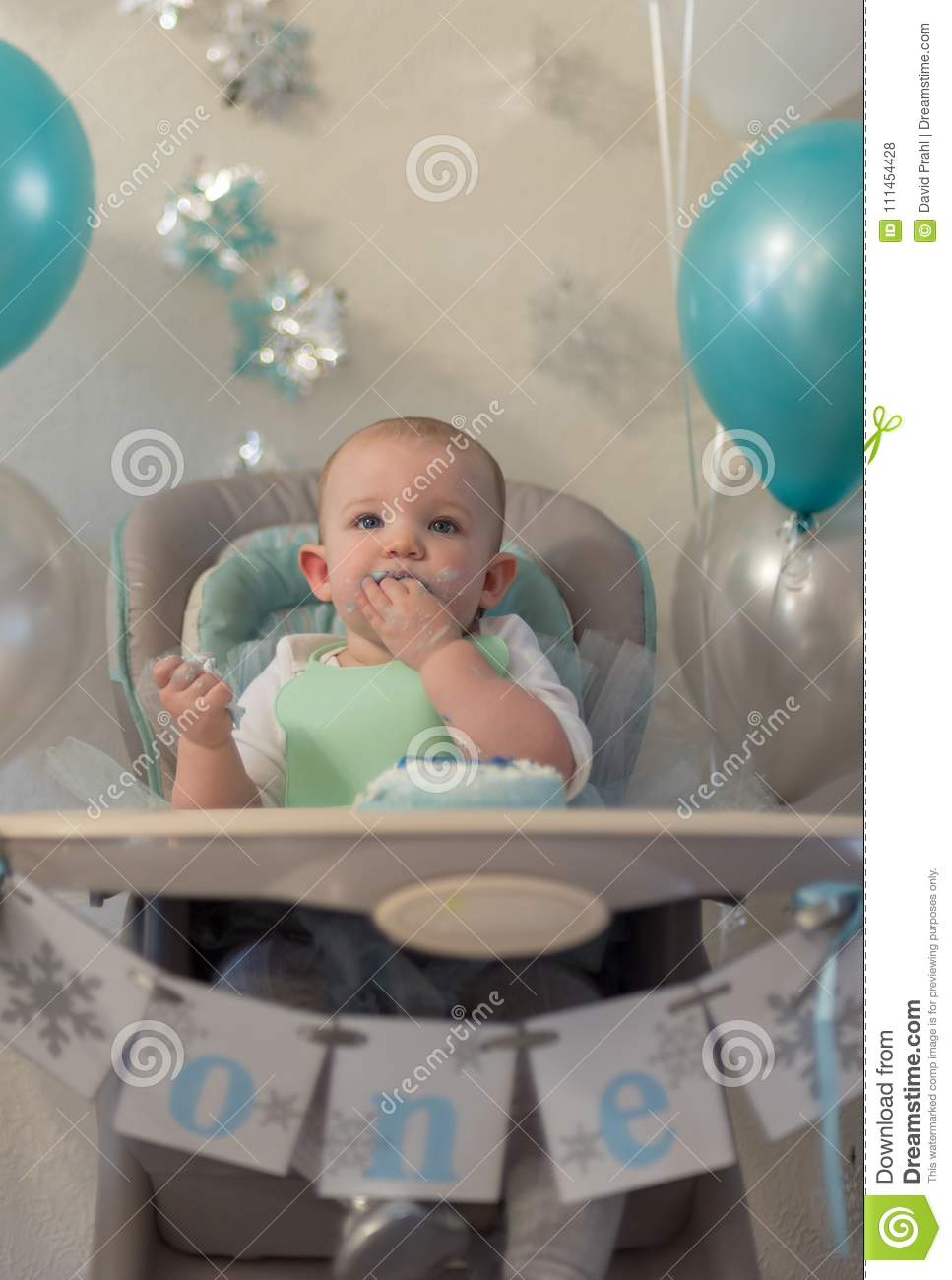 Prime Closeup Portrait Of One Year Old Little Girl In High Chair Alphanode Cool Chair Designs And Ideas Alphanodeonline