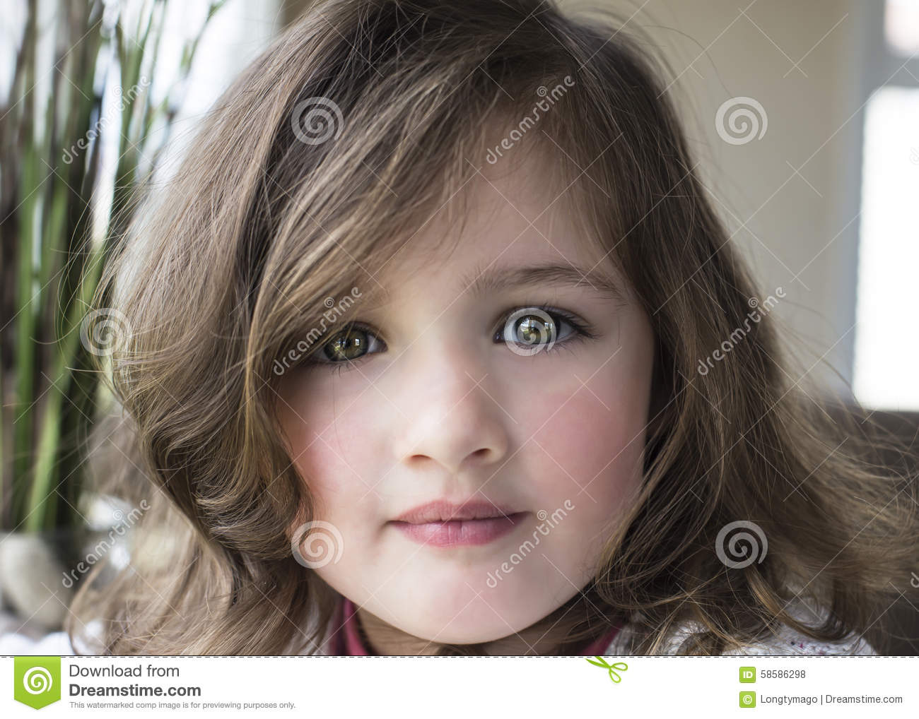 Closeup Portrait Of Pretty Little Girl Stock Photo Image Of