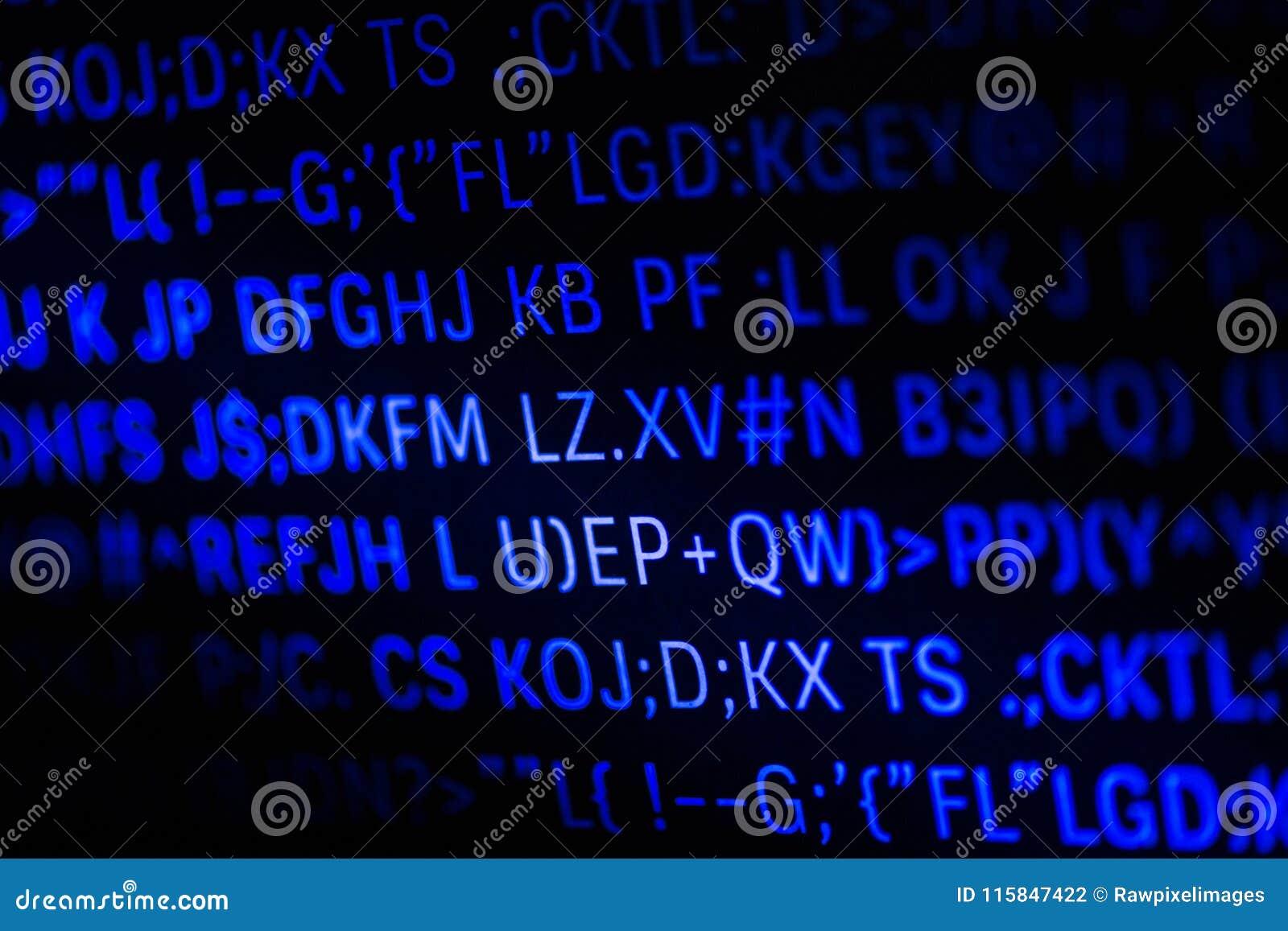 Closeup Of Programming Code And Language Stock Photo - Image