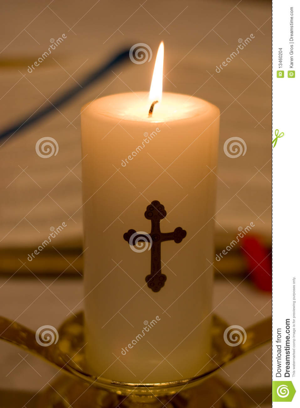 Closeup Of Religious Candle Stock Images Image 13460204