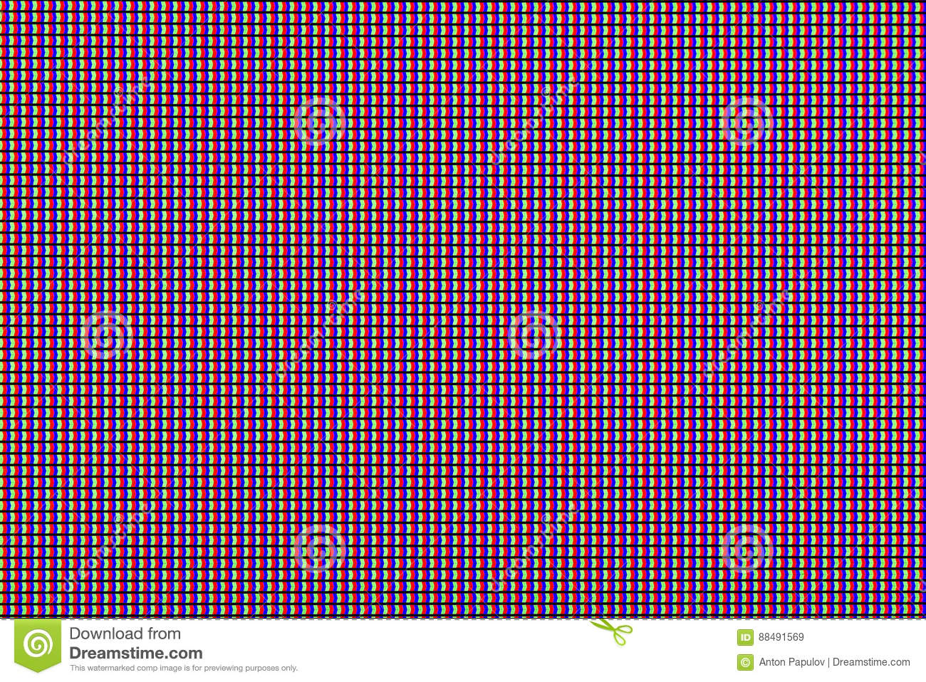 Closeup RGB led diode of led TV or led monitor screen display panel. Colorful led screen background for design with copy